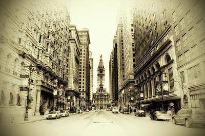Broad Street Digital Art - Dreamy Philadelphia by Bill Cannon