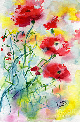 Painting - Dreamy Poppies by Ginette Callaway