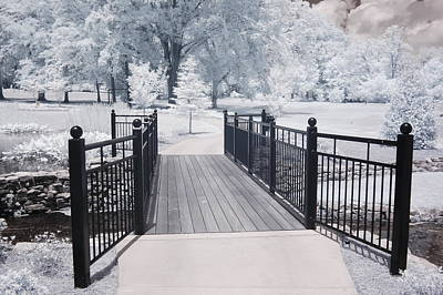Dreamy Surreal South Carolina Infrared Gate Scene Print by Kathy Fornal