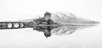 Sea And Rocks Photograph - Dreich Morning At Eilean Donan Castle by Janet Burdon