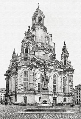 Photograph - Dresden's Church Of Our Lady - Reminder Of Peace by Christine Till