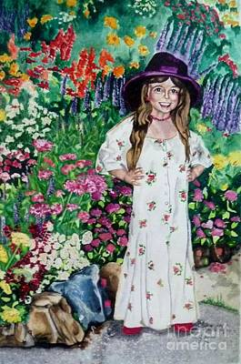 Dress Up In The Garden Art Print