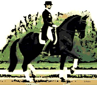 Photograph - Dressage by George Pedro
