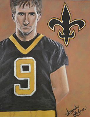 Drew Brees Painting - Drew Brees by Amanda Ladner