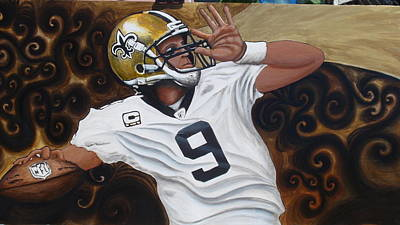 Drew Brees Painting - Drew Brees by Billy Cousins