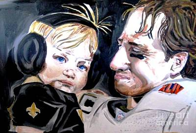 Drew Brees Painting - Drew Brees by Patrick Ficklin