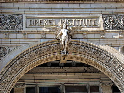Photograph - Drexel Institute Angel by Alice Gipson