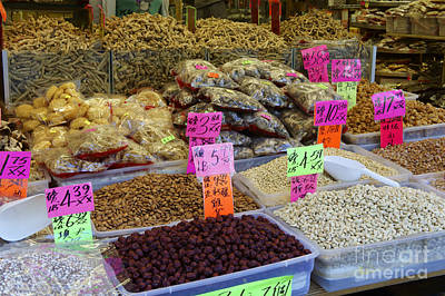 Photograph - Dried Chinese Food Vancouver Chinatown by John  Mitchell