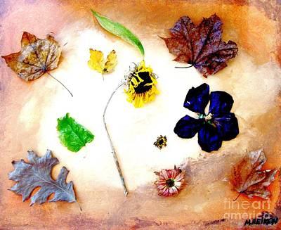 Dried Flowers And Leaves Art Print by Marsha Heiken