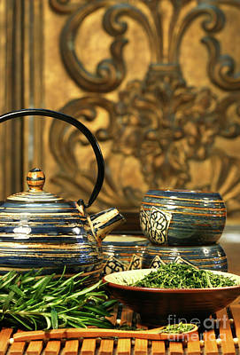 Chinese Herbs Photograph - Dries Herb Leaves  by Sandra Cunningham