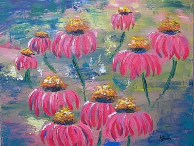 Drifting Flowers Art Print by Tersia Brooks