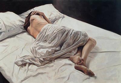 Bed Painting - Drifting  by John Worthington