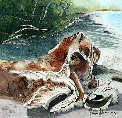 Driftwood-wisconsin Point Art Print
