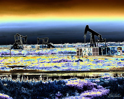 Drilling For Black Gold Art Print by Diana Haronis