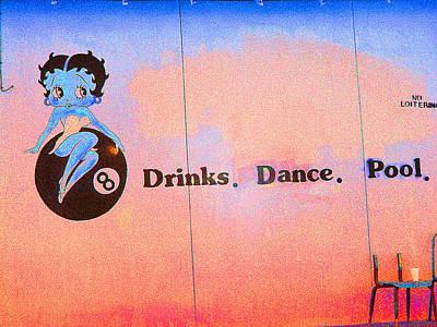 Drink Dance Pool Art Print