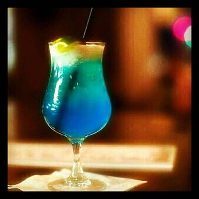 Foodie Photograph - Drink Of The Day...blue Lagoon. #vodka by Mary Carter