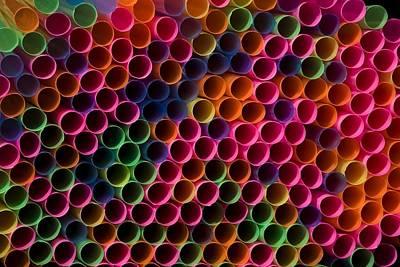 Drinking Straws Art Print by David Chapman