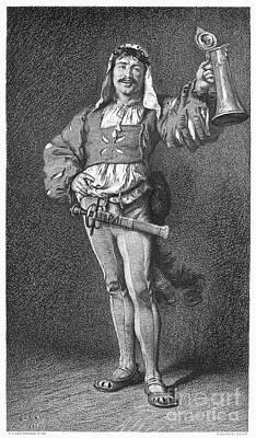 Stein Photograph - Drinking: Toast, 1880 by Granger