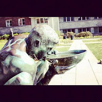 Bronze Wall Art - Photograph - #drinking #water #bronze #statue by Kiko Bustamante
