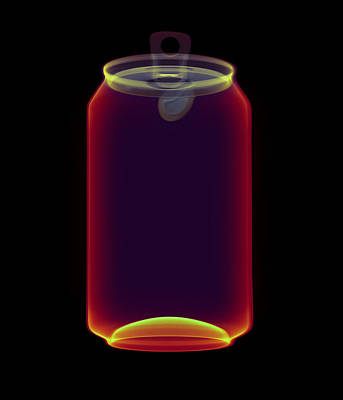 Drinks Can X-ray Art Print by D. Roberts