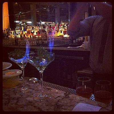 Martini Wall Art - Photograph - #drinks #flame #veneto #fancy #cocktail by Emily Harris