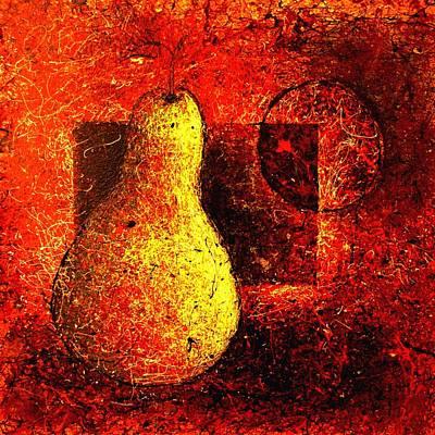 By Artist Singh Painting - Dripp Pear  by Artist Singh