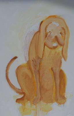 Drippy Dog Art Print by Jay Manne-Crusoe