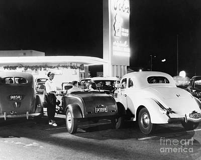 Drive-in Restaurant Print by Photo Researchers