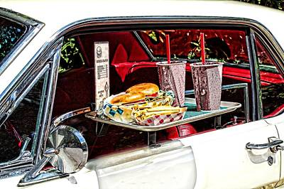 Drive-in Art Print by Rudy Umans