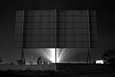 Drive-in Theater - After The Dust Storm Art Print by Nick Florio