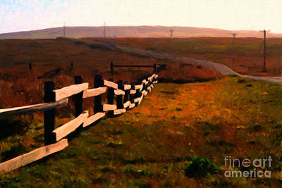 Driving Down The Lonely Highway . Study 2 . Painterly Art Print by Wingsdomain Art and Photography