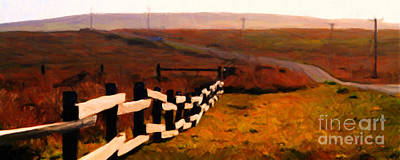 Bay Area Digital Art - Driving Down The Lonely Road . Long Version by Wingsdomain Art and Photography