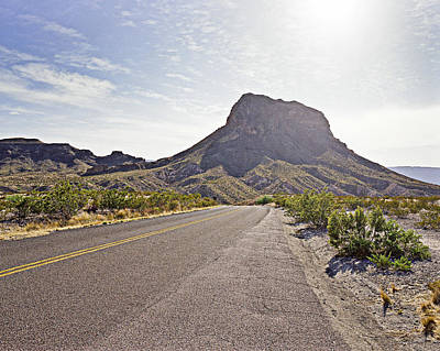 Photograph - Driving Throught Big Bend National Park by M K Miller