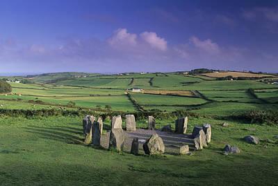 Megalith Photograph - Drombeg Stone Circle by David Nunuk