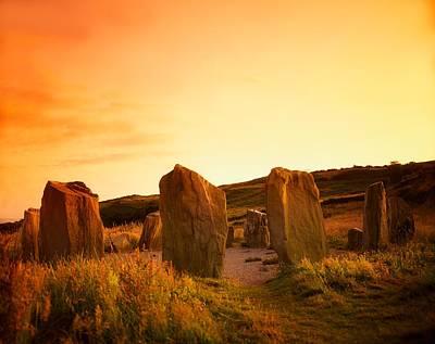Megalith Photograph - Drombeg Stone Circle, Near Glandore, Co by The Irish Image Collection