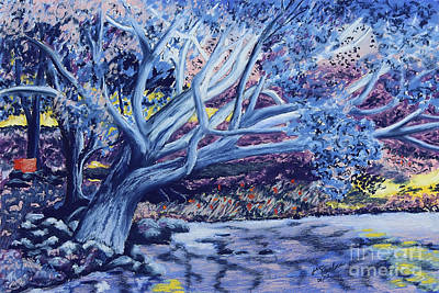 Swimming Hole Painting - Droopy Stick 3 by Jim Barber Hove