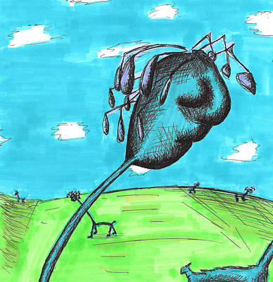 Drawing - Dropies by Jera Sky