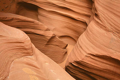 Rock Photograph - Drowning In The Sand - Antelope Canyon Az by Christine Till