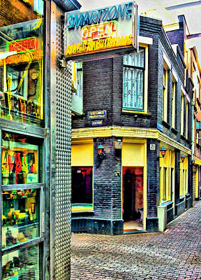 Drug And Sex Area In Amsterdam Art Print