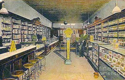 Painting - Drug Store Interior In Santa Fe N M In 1910 by Dwight Goss