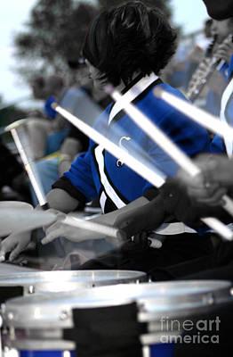 Photograph - Drum Line Colorized by Susan Stevenson