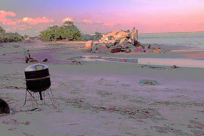 Drum On Beach Art Print