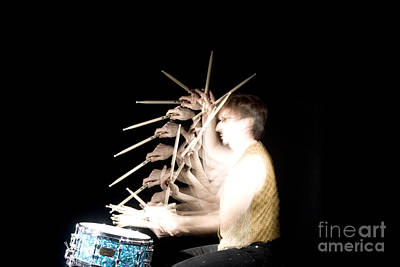 Stroboscopic Images Photograph - Drummer by Ted Kinsman