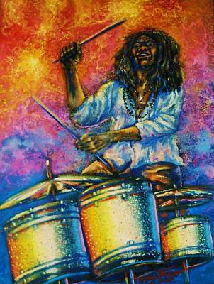 Pastel - Drummer by Terry Jackson