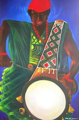 Drummerboy Art Print by Leon Salako