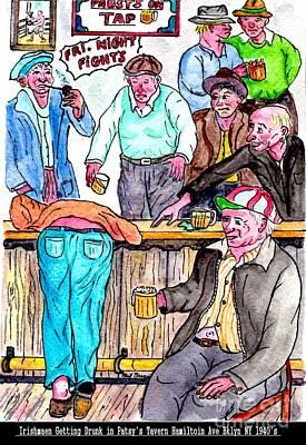 Painting - Drunk In Patsy.s Tavern by Philip Bracco