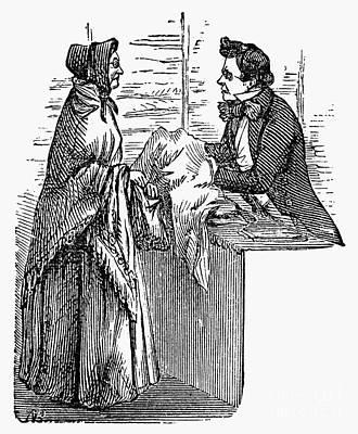 Dry Goods Store, 1854 Art Print by Granger