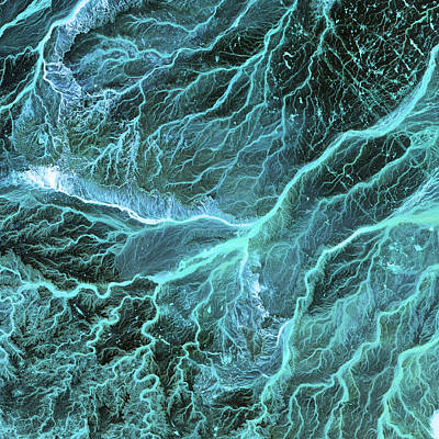 Dry River Beds, Satellite Image Art Print by Nasa