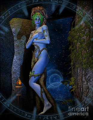 Digital Art - Dryad Aurya by Georgina Hannay