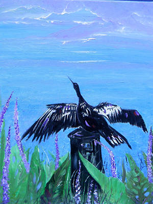 Drying Feathers Original by Christy Usilton